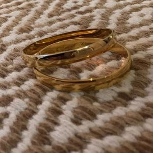 Jewelry - Stainless steel gold bracelet pair